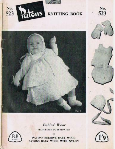 Knitting For Babies Books : Patons baby knitting books ebay