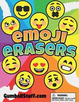 250 Emoji Erasers 1 Inch Vending Gumball Candy Machine Capsules Toy 1.1 Acorn
