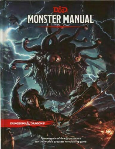 Dungeons & Dragons D&D 5E 5th Edition Core Rulebook Monster Manual