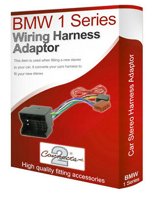 BMW 1 Series radio stereo wiring harness adapter lead loom converter