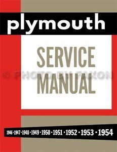 Plymouth-Shop-Manual-1946-1947-1948-1949-1950-1951-1952-1953-1954-Repair-Service