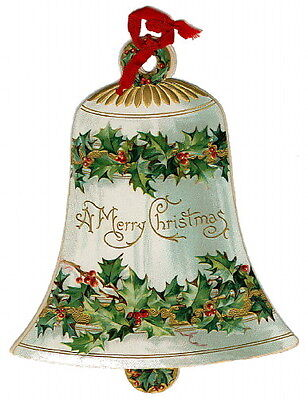 Vintage Image~Large Christmas Bell~NEW Large Blank Christmas Note Cards