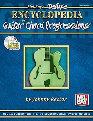 DELUXE ENCYCLOPEDIA OF GUITAR CHORD PROGRESSIONS MUSIC BOOK/CD BRAND NEW ON SALE