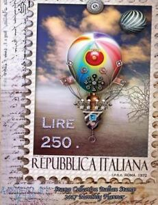Stamp Collection Italian Stamp 2017 Monthly Planner : 16 Month August...