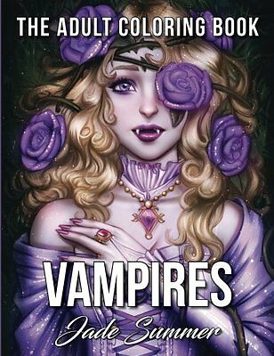 MALBUCH für ERWACHSENE ★ Vampires: The Adult Coloring ★ Zen Relaxing Art Therapy