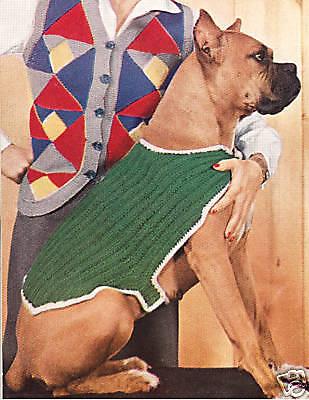 Vintage Dog Sweater Coat Blanket knitting pattern