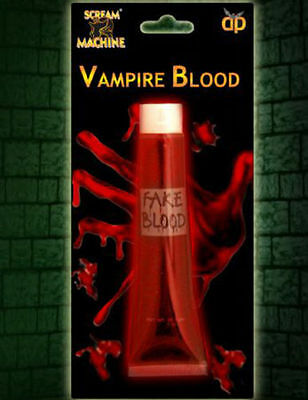 HALLOWEEN VAMPIRE FAKE RED BLOOD FACE PAINT FANCY DRESS PARTY TRICK OR TREAT FUN - Halloween Face Paint Fake Blood