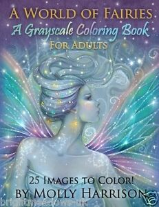World Of Fairies Adult Colouring Book Fairy Mystical Magical Enchanted Greyscale