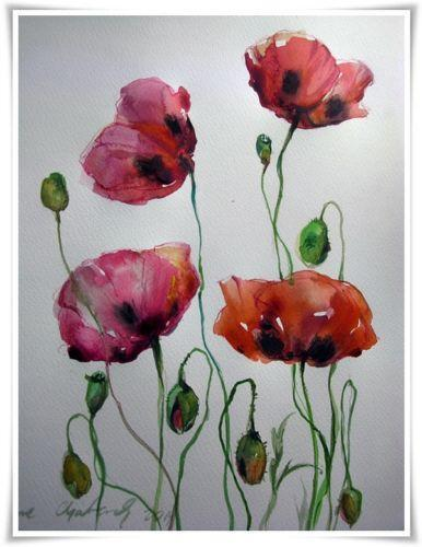 Poppy painting ebay mightylinksfo Image collections
