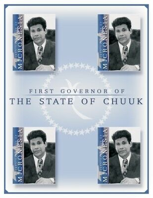 First Governor- A Chuck Leader of Micronesia Stamp- Sheet of 4 MNH
