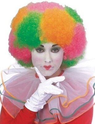 Neon Clown Wigs - Clown Wig Neon Multi Colored Rainbow Afro New by Rubies 50511