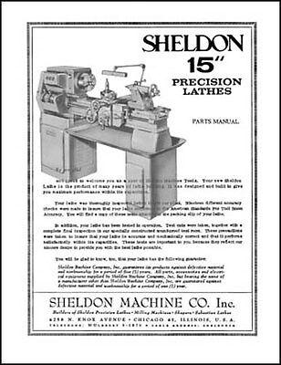 Sheldon 15 Inch Precision Lathe Parts Manual