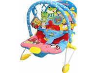 Cute Baby Animal Party - Vibrating & Musical Bouncer