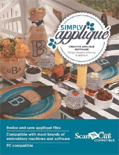 Brother SABESSA Simply Applique Embroidery Software With 206+ Applique Designs