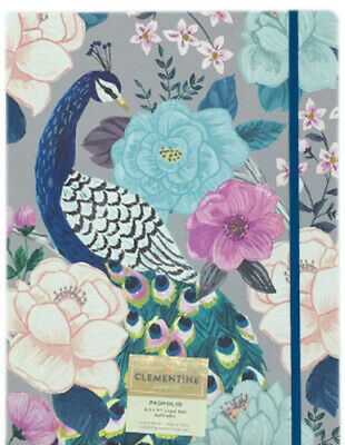 Peacock Flowers Novelty Refillable Padfolio Legal Pad Organizer 12.5x9.5 New