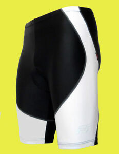 MENS-WHITE-BLACK-GEL-PADDED-CYCLE-CYCLING-BIKE-SHORTS-ANTI-BAC-GEL-PADDING-PAD