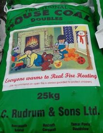 25kg Bag Of Housecoal Doubles Coal - Open Fires - 36 BAGS IN TOTAL PRICE REDUCED