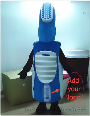 Advertising Dental Care Tooth Toothbrush Mascot Costume Adults Dress Cosplay US