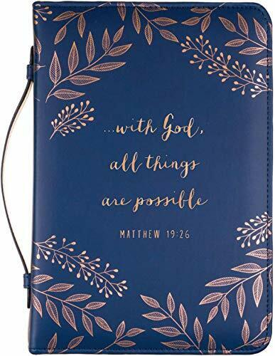 """Medium Zippered Bible Cover Case for Men/Women, Holds&Protects 5.5 x8.5""""x1""""Thick"""
