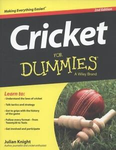 Cricket For Dummies By Julian Knight 2013 Paperback