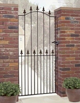 WROUGHT IRON METAL GARDEN SIDE GATE Roman T 2ft6-3ft4