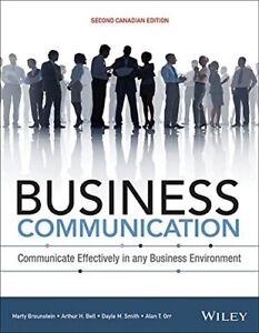 Business Communication, 2nd Canadian Edition