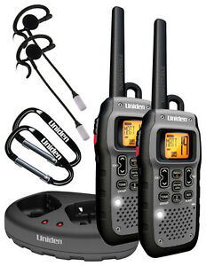 Uniden - 50-Mile 22-Channel FRS/GMRS 2-Way Radio (Pair) - Silver/Black
