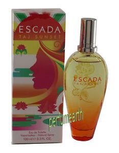 ESCADA TAJ SUNSET 3.4/3.3 OZ EDT SPRAY FOR WOMEN BY ESCADA & NEW IN A BOX