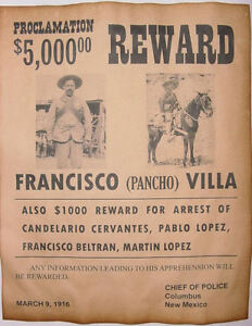 Francisco-Pancho-Villa-Wanted-Poster-Western-Mexican-Outlaw-Old-West ...