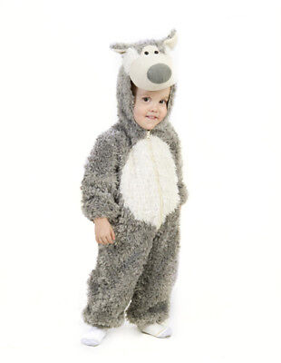 Kids Big Bad Wolf Jumpsuit Halloween - Child Big Bad Wolf Costume