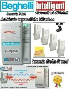 BEGHELLI-INTELLIGENT-ANTIFURTO-ALLARME-CASA-WIRELESS-SENZA-FILI-DUAL-BAND-SIRENA
