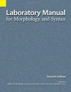 LING 2005 Linguistic Analysis Morphology & Syntax Lab Manual