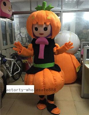 Halloween Pumpkin Mascot Props Costume Suit Unisex Cosplay Dress Outfits Cosplay](Pumpkin Mascot Costume)