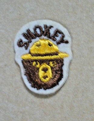 NEW! Unused small vintage original Smokey the Bear adhesive embroidered patch
