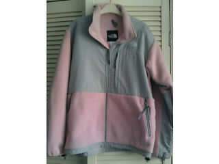 Wanted womans pink/grey north face fleece size xl
