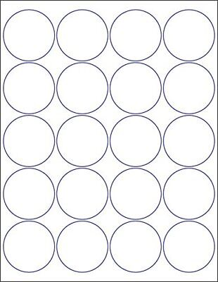 Laserinkjet Labels 2 Round - 20 Per Page 20000 Labels - 1000 Sheets