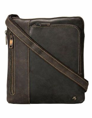 Visconti Brown Distressed Leather Gofer Bag Ideal for iPad or Tablet Case