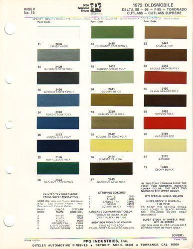 Gm Paint Colors