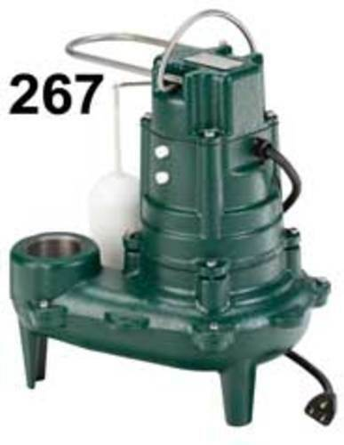 Zoeller 267-0001 1/2 Hp Automatic Submersible Sewage & Effluent Pump