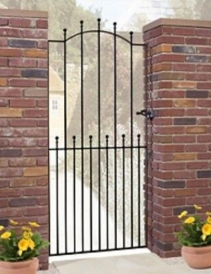 WROUGHT IRON METAL GARDEN SIDE GATE Viking T 2ft6-3ft4