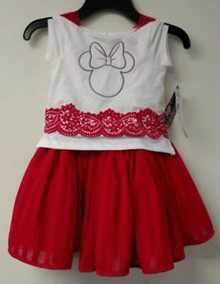 DISNEY JUNIOR GIRLS MINNIE MOUSE TULLE DRESS NWT SIZES 2T, 3T, 4T