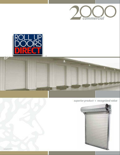 Roll Up Door JANUS Model 2000 sizes 8x8 to 12x16 available