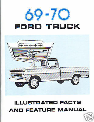 1969-70  F100-F250 FORD TRUCK FACTS MANUAL comprar usado  Enviando para Brazil