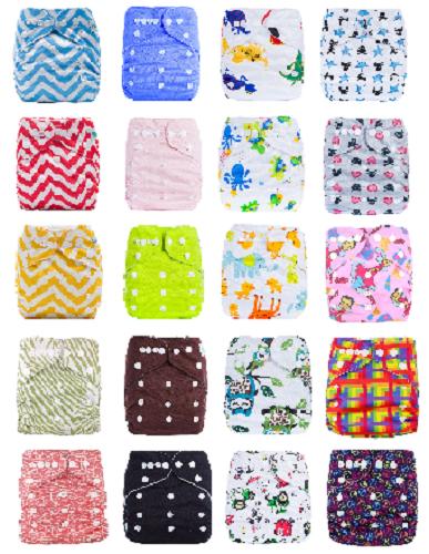 Pocketwindeln Stoffwindel one Size verschiedene Designs + kostenlose Einlage