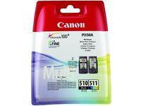 Canon multipack black and colour ink 510 511