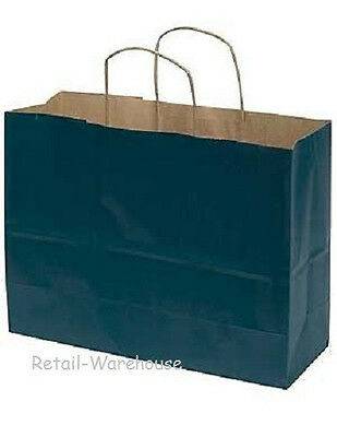 Paper Shopping Bags 25 Large Navy Blue 16 X 6 X 12 Vogue Retail Merchandise
