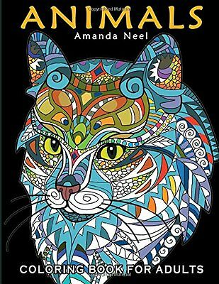 Adult Coloring Book Animal Designs Art Patterns Relaxing Stress Relief Therapy