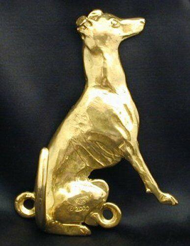ITALIAN GREYHOUND Hook in Bronze