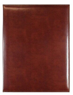 C.r. Gibson Brown Leather Padfolio With Legal Size Notepad 9.5 W X 12.4 L