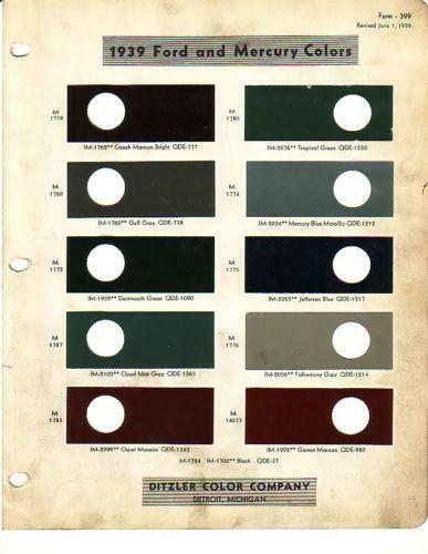 Dupont Paint Chips | eBay